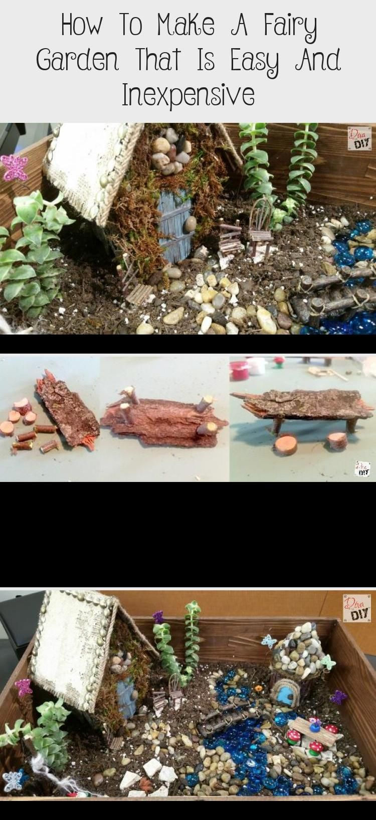How to Make a Fairy Garden that is Easy and Inexpensive #DIY #fairygardenCastle … Garden