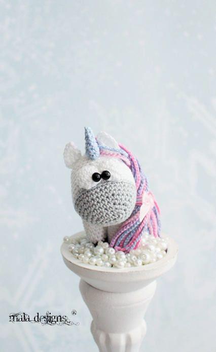 Little unicorn - crochet pattern by mala designs ® #littleunicorn