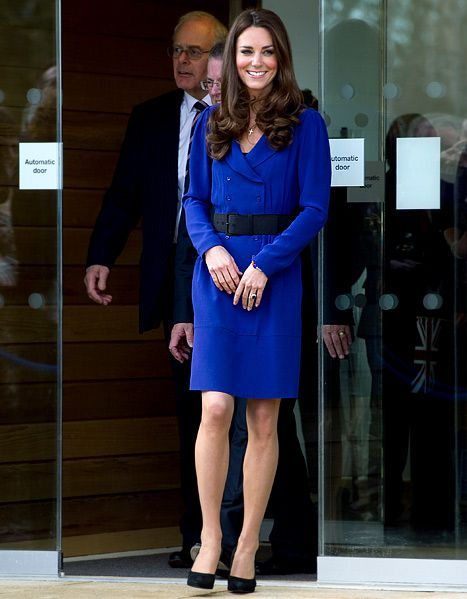 Another reason to love her. Wearing her mother's 2008 Reiss dress, and looking stunning!