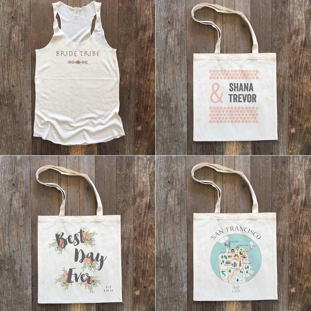 Take a peek at some of our favorite weekly specials up in the shop now.  Link in bio to see them all. Don't forget to tag your bride tribe! #wcshop #weddingchicks #customtotes #totebag #weeklyspecials #bridetribe #bestdayever #sanfrancisco via @angela4design