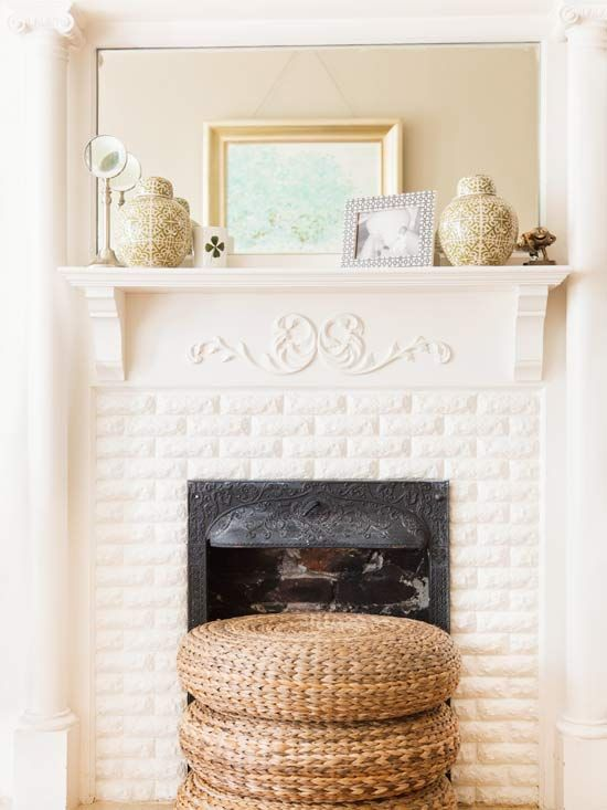 Add Architectural Details Decorating On A Budget Simple Fireplace Cottage Living Rooms
