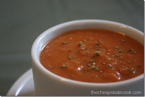 Dairy-Free Tomato Soup @ Cheapskate cook