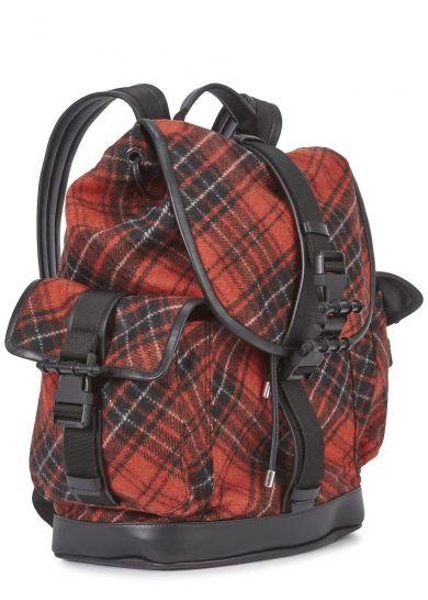 Obsedia tartan wool backpack - Sale £817 50% off  a7e4013111ac