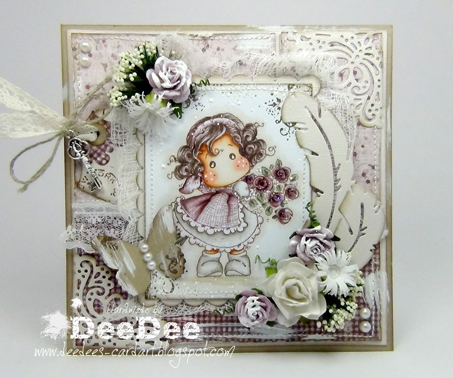 DeeDee's Magnolia Art - Tilda Hiding Rose Bouquet from the Lost & found Collection of Magnolia