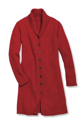 Just found this Wool-Cashmere Cable-Knit Sweater Coat For Women ...