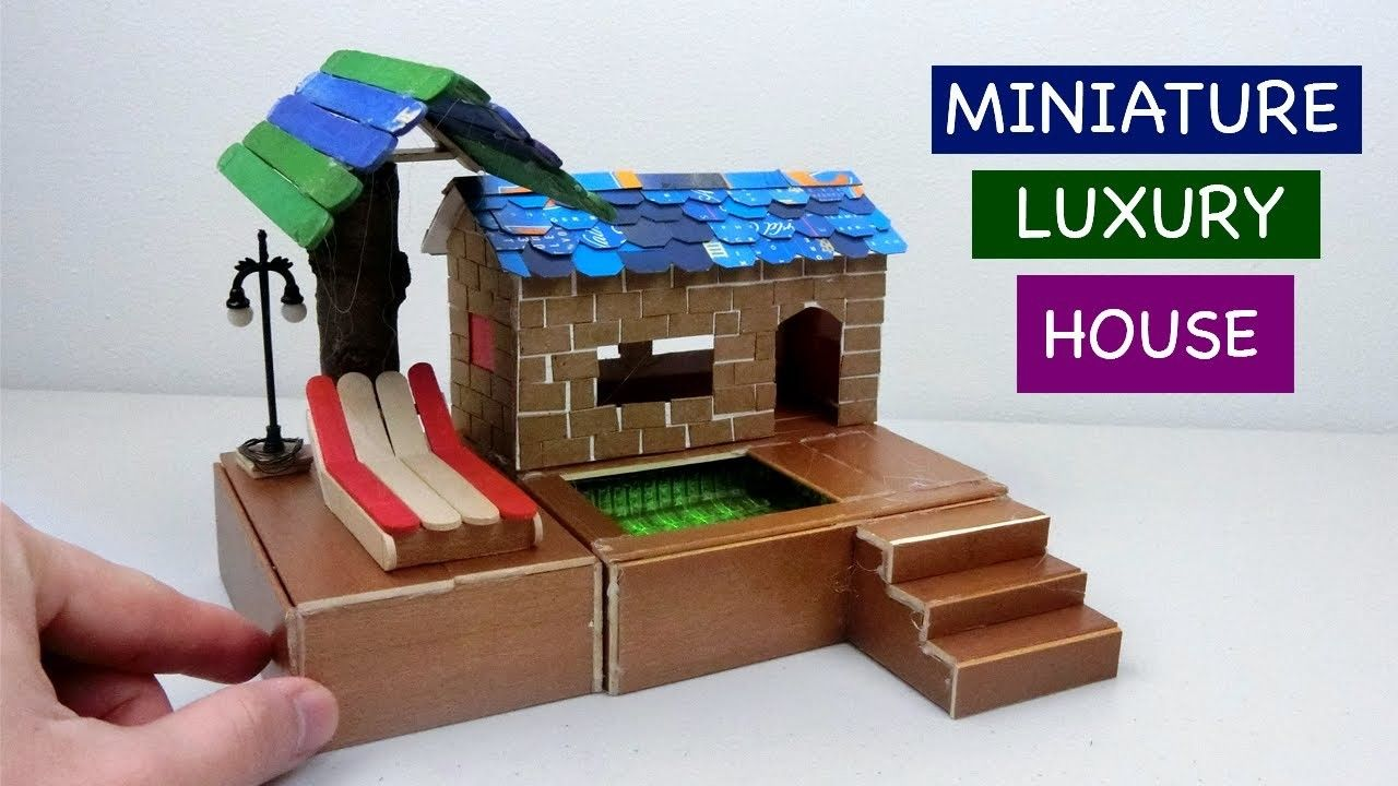 Diy Miniature Luxury Fairy House With Swimming Pool Craft Ideas
