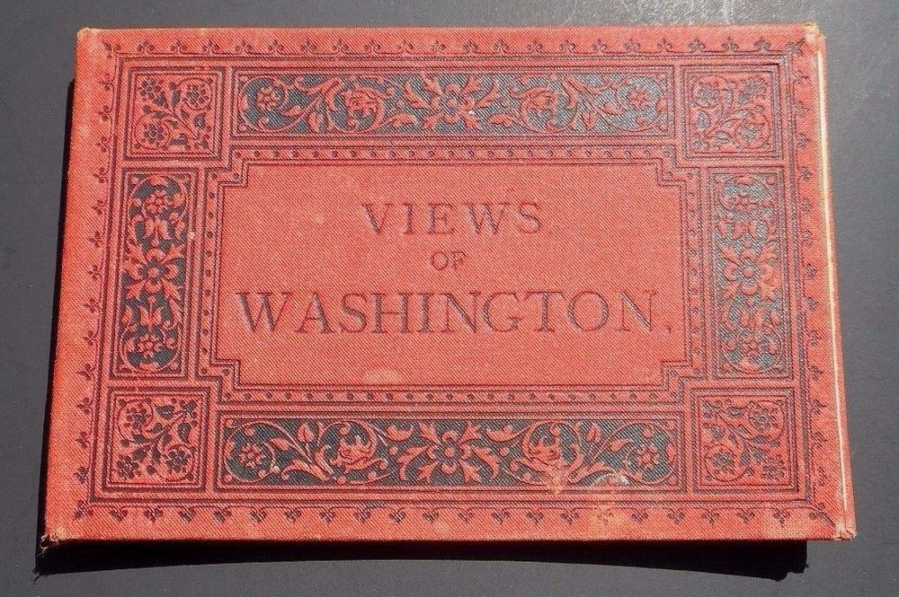 Vintage Wittemann Brothers Souvenir Album Of Paintings US Capital Patent Office