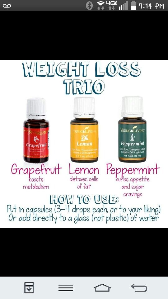 Essential Oils Weight Loss Trio : essential, weight, Essential