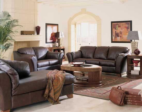 Classic Home Decorating Ideas Dark Brown Sofa