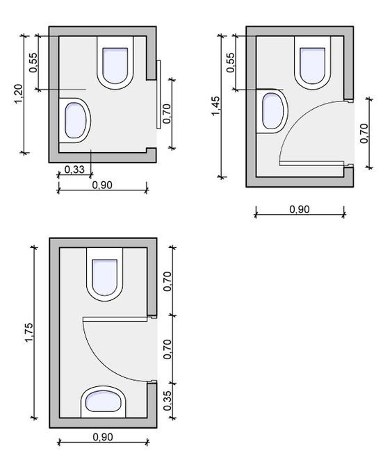 Half Bath Floorplan, Powder Room Floorplan: