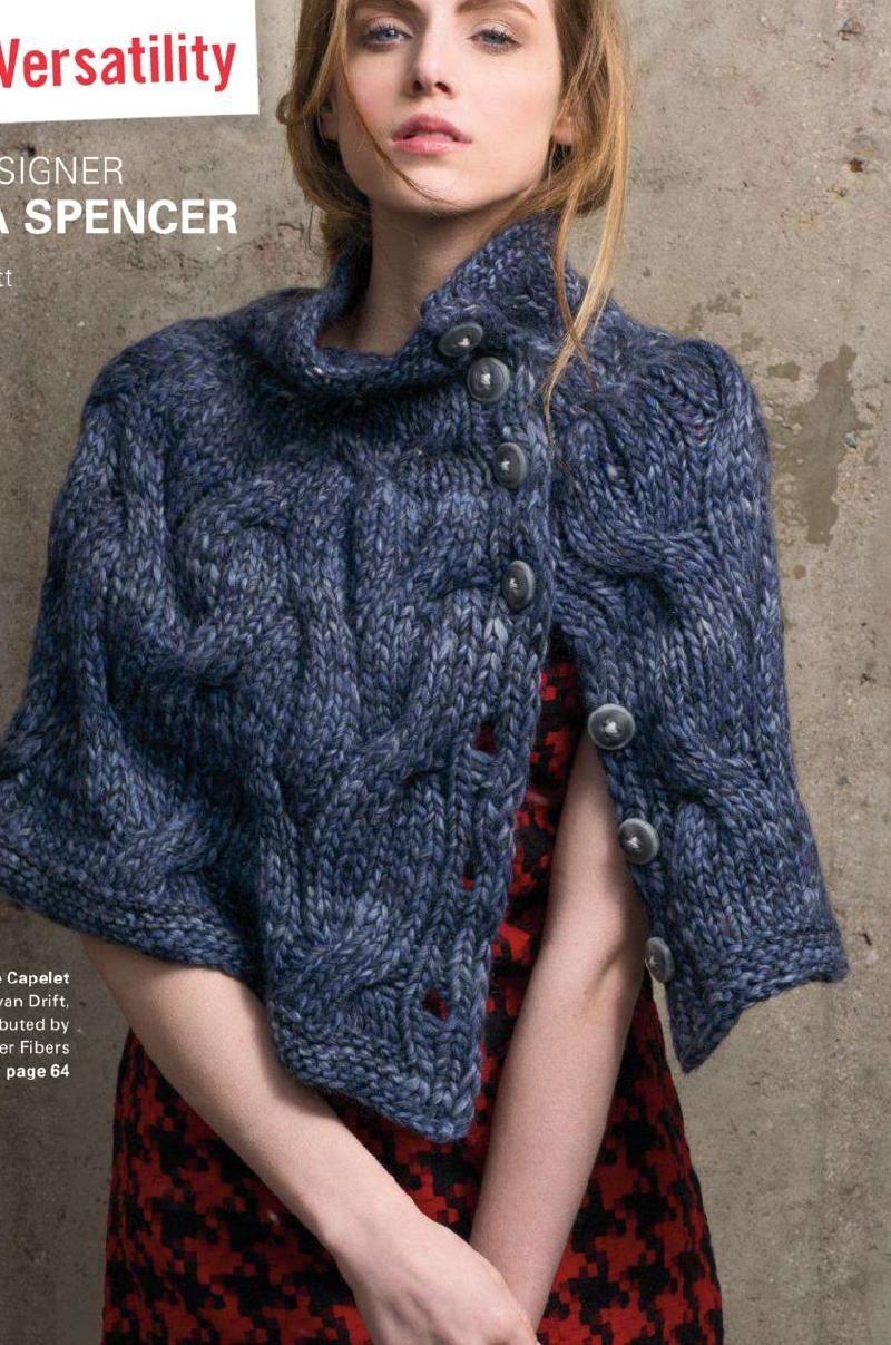 #ClippedOnIssuu from 1knac4   knitting - poncho   Knitting ...