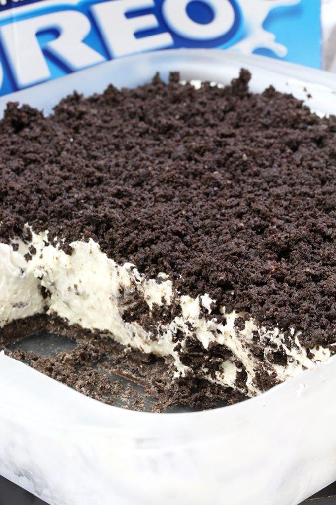 Easy Frozen Oreo Dessert   - Dessert recipes -