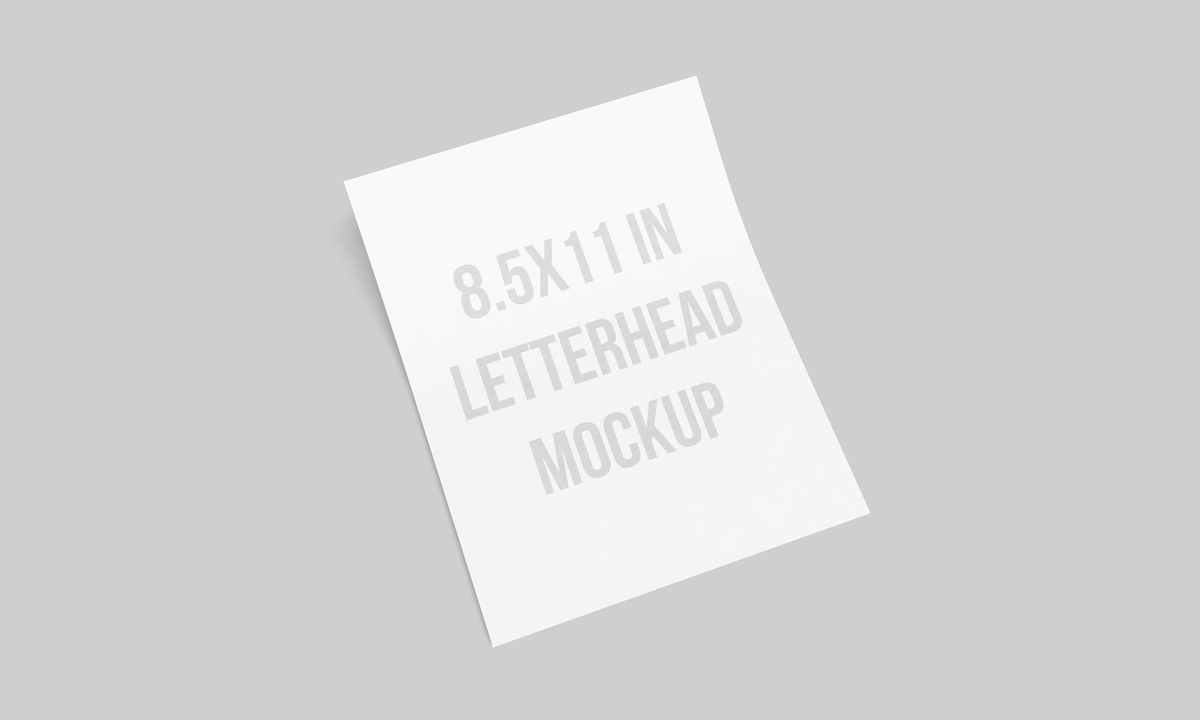 US Letterhead MockUp 8.5 X 11 Inches