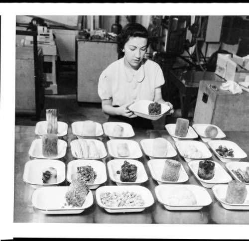 woman inspecting frozen food in los angeles 1930 1940 california historical society collection 1860 1960