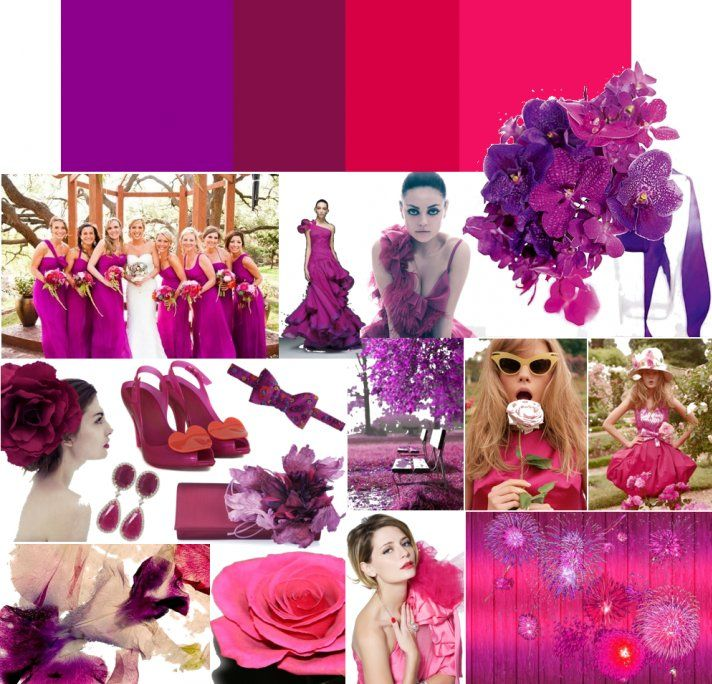 Whimsical Wedding Colors: Deep Purple + Hot Pink