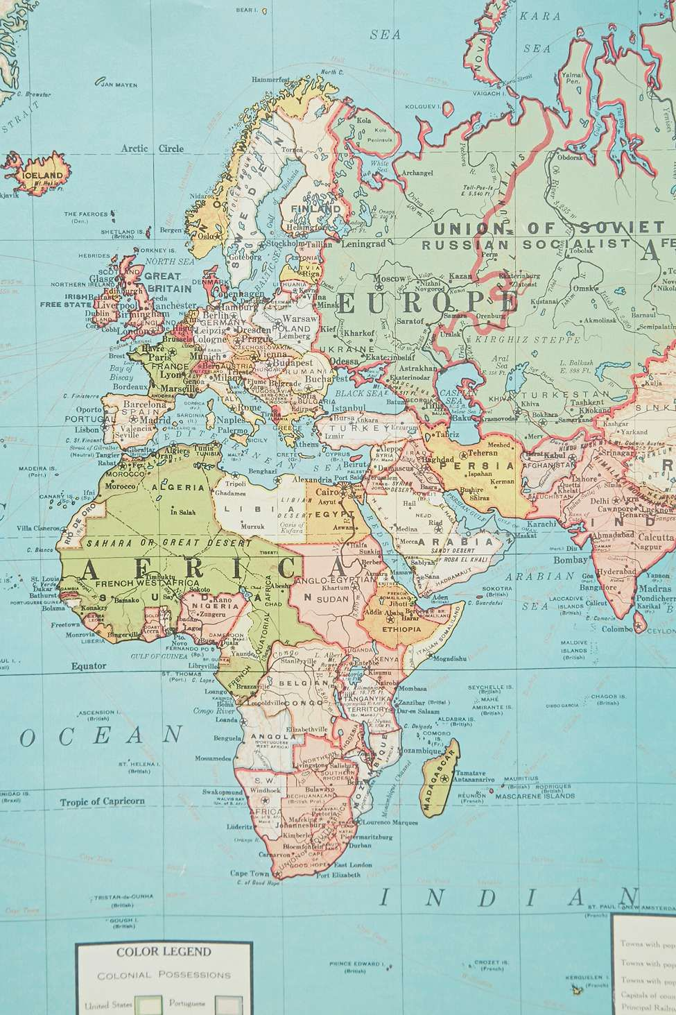 Large world map wrap wall art mapas mapas antiguos y cartografa large world map wrap wall art gumiabroncs Choice Image