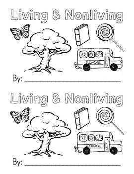 Living Nonliving Emergent Reader Black White Living And Nonliving Emergent Readers Nonliving