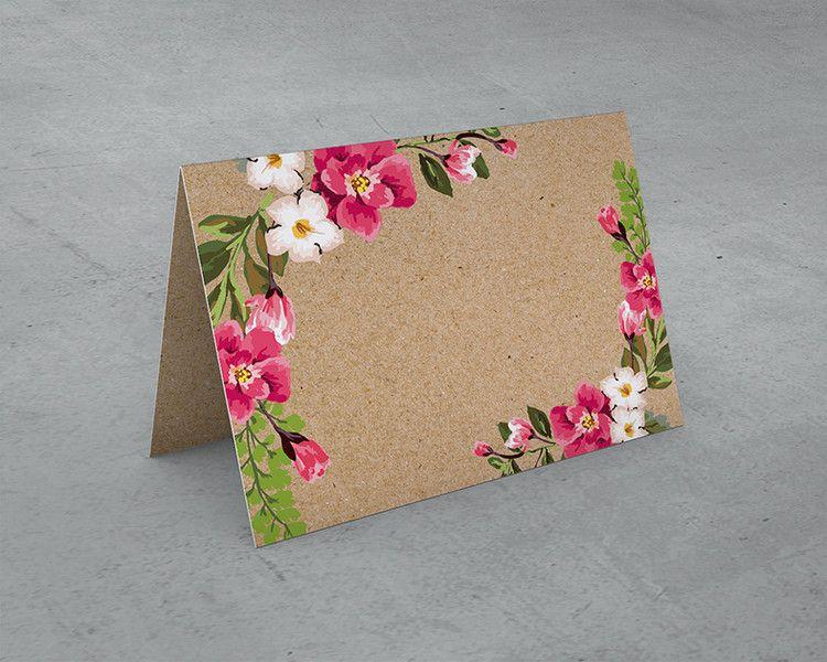 Gastgeschenke - 10 Stück Tischkärtchen Kraftpapier-Look  - ein Designerstück von dotLA-Grafik bei DaWanda