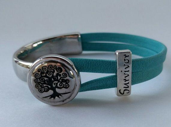 Tree Of Life Ovarian Cancer Survivor Bracelet Products Bracelets Ribbon Bracelets Cancer