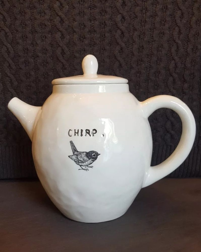 Rae Dunn Artisan Collection Chirp Bird Teapot Raedunn