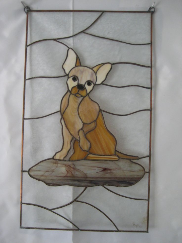 Chihuahua stained glass: