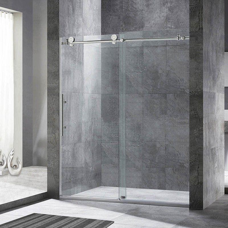 Woodbridge 60 X 76 Single Sliding Frameless Shower Door