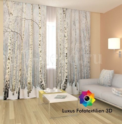 details zu neu vorh nge gardinen in luxus fotodruck 3d 2. Black Bedroom Furniture Sets. Home Design Ideas