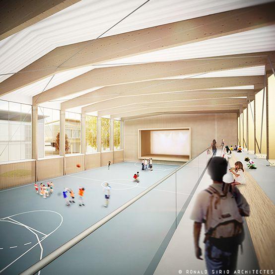 Ronald Sirio Architectes Projet De Salle Polyvalente Dans Une Ecole