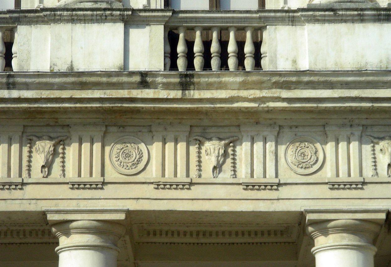 Palladio Palazzo Chiericati Vicenza Detail Of The Doric Entablature