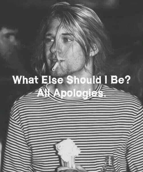 Kurt Cobain #Nirvana all apologies