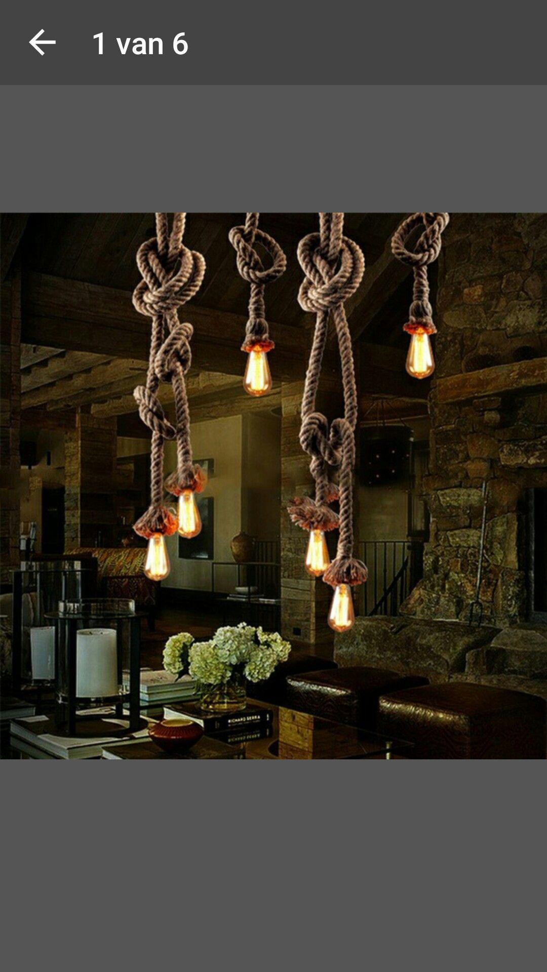 Pin Van Manuella Gruijthuijsen Op Man Room Touw Lamp Lampen Voor Het Huis