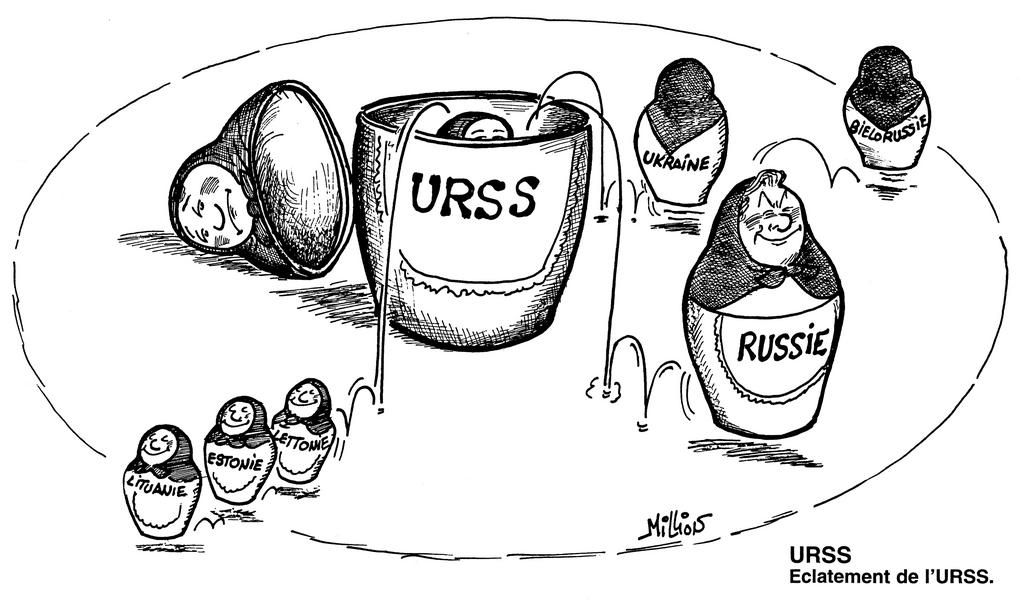 Cartoon by Million on the break-up of the USSR