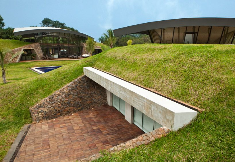 Modern Semi Underground Homes That Become One With The Land