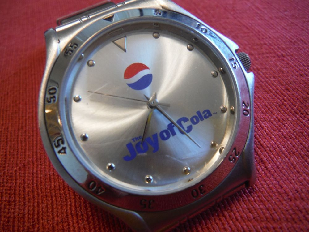 Mini Kühlschrank Pepsi : Pepsi joy of cola promo watch by sweda stainless steel new