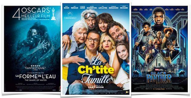 Box Office France du 7 au 13 mars : La Ch'tite famille toujours en tête, La Forme de l'eau sur le podium