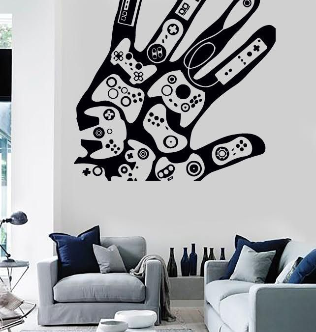 Wall stickers vinyl decal video games gamer xbox playstation decor z2213 d co gamer en 2019 for Decoration maison games