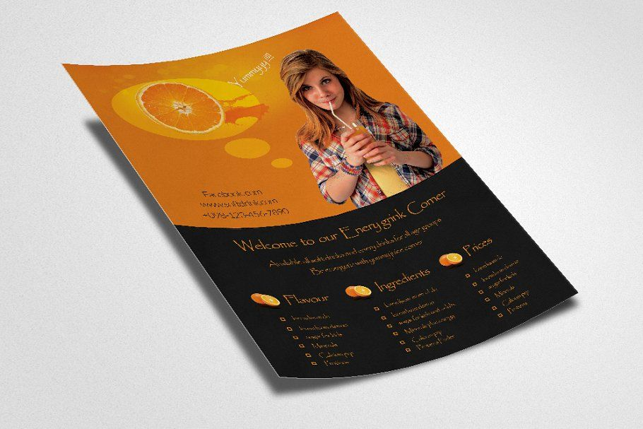 Energy Drink Flyer Template in 2020 Flyer template
