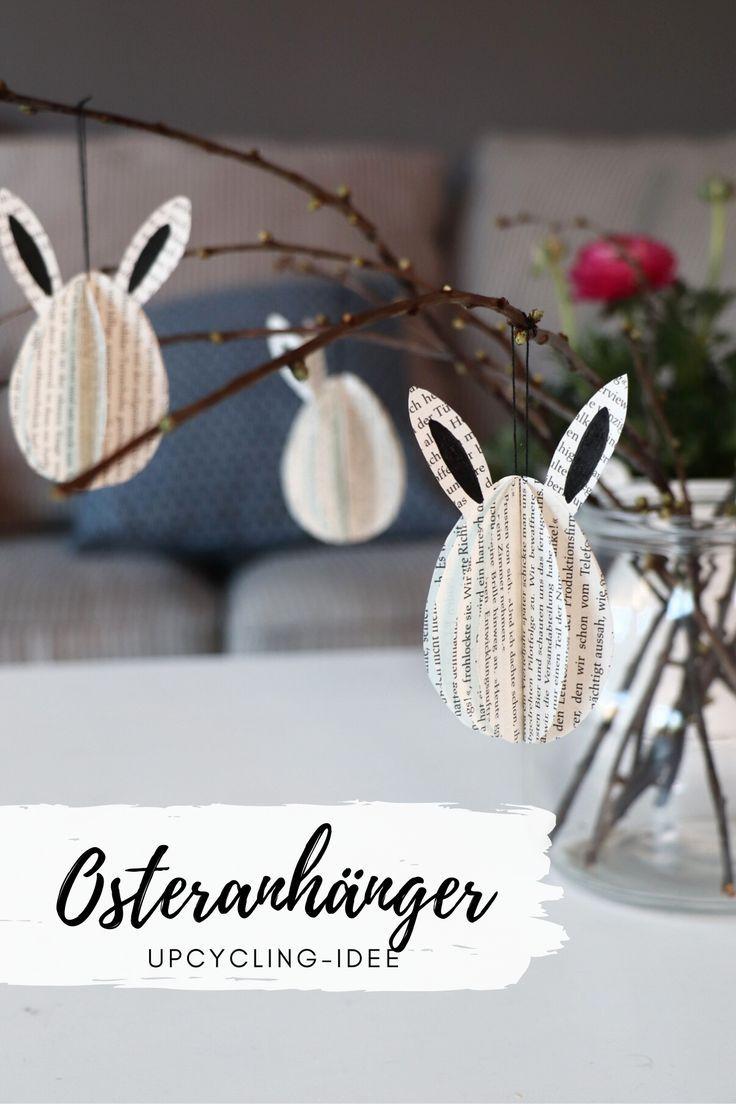 DIY: Osterhasen-Anhänger aus alten Buchseiten basteln – Lavendelblog