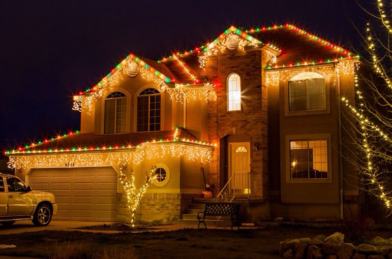 Christmas lights on house christmas decorating pinterest christmas lights on house aloadofball Image collections