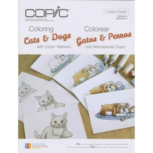 Coloring Cats & Dogs Copic Coloring Foundations Book Copic ***CLEARANCE***