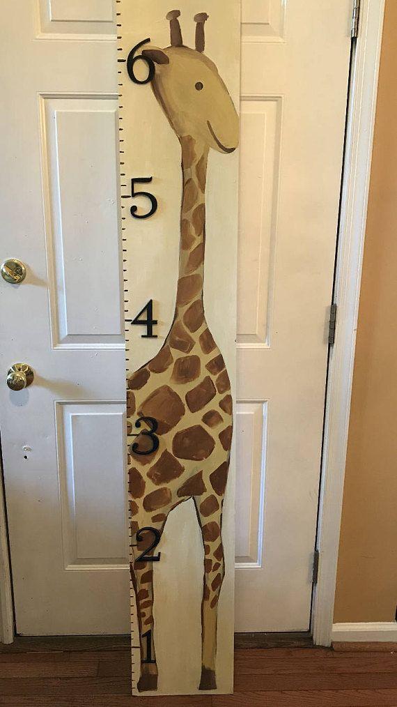 Giraffe Growth Chart Wooden Growth Chart For Children Giraffe