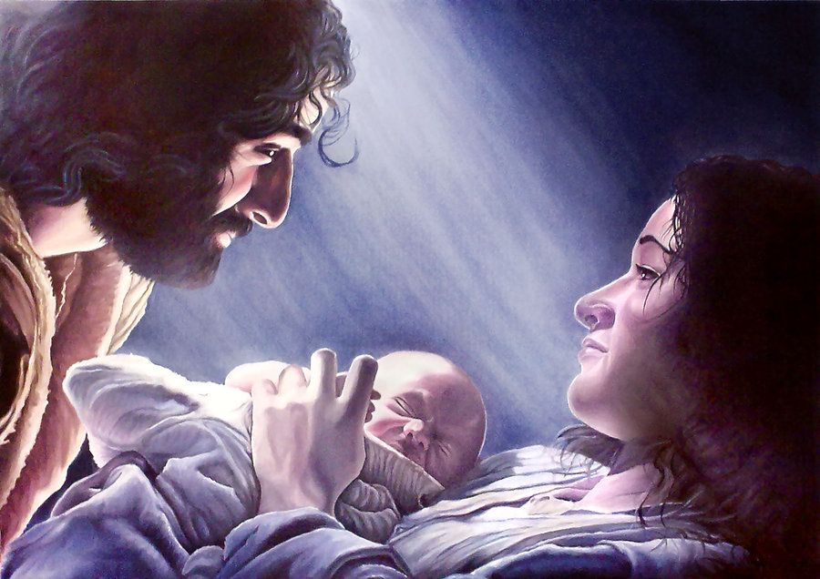 Image Detail For The Nativity Scene Oil Painting By Rainwalker007