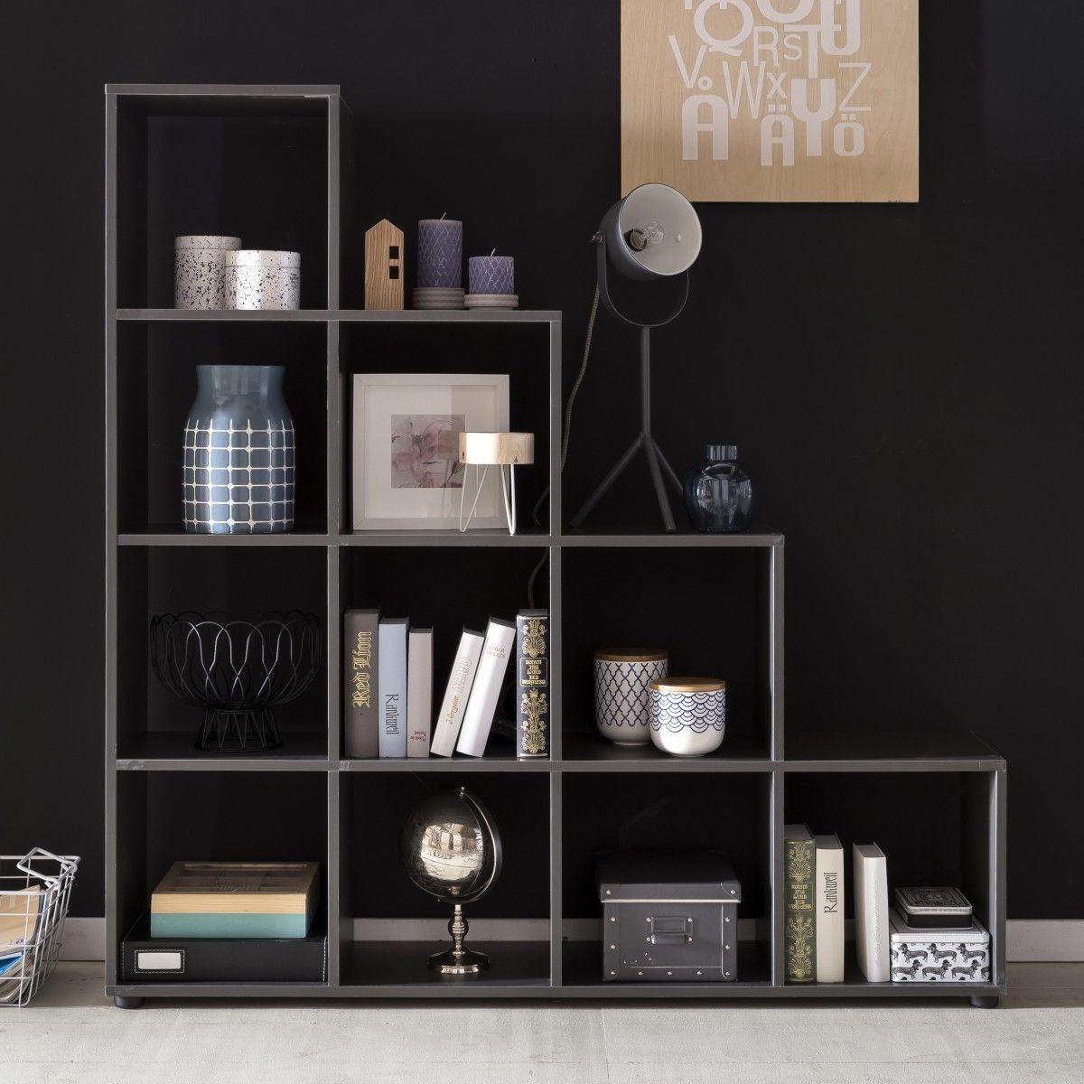 Wohnling Stufenregale WL5.164 Grau #Raumteiler #Einrichtung #Möbel # Wohnzimmer #Schlafzimmer