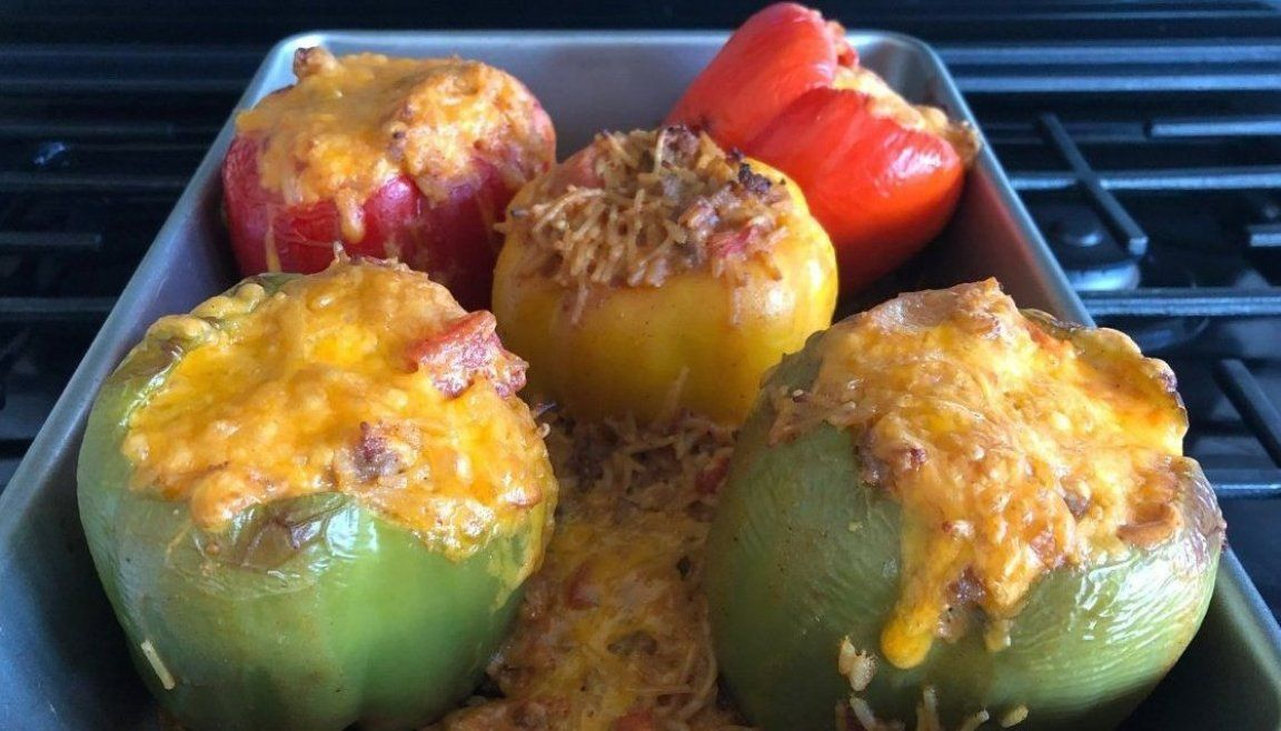 To Make Sausage And Spanish Rice Stuffed Peppers Spanishrice Spanishricerecipe Instantpoteas In 2020 Rice Recipes For Dinner Stuffed Peppers With Rice Spanish Rice