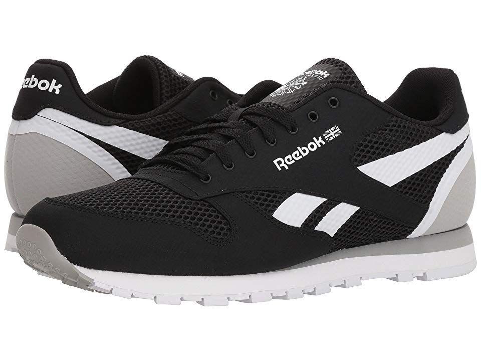 9e70c2bf18d Reebok Lifestyle Classic Leather MVS Men s Classic Shoes Black Stark Grey  White