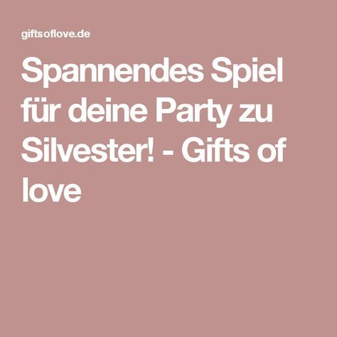 Silvester Party Spiele FГјr Erwachsene