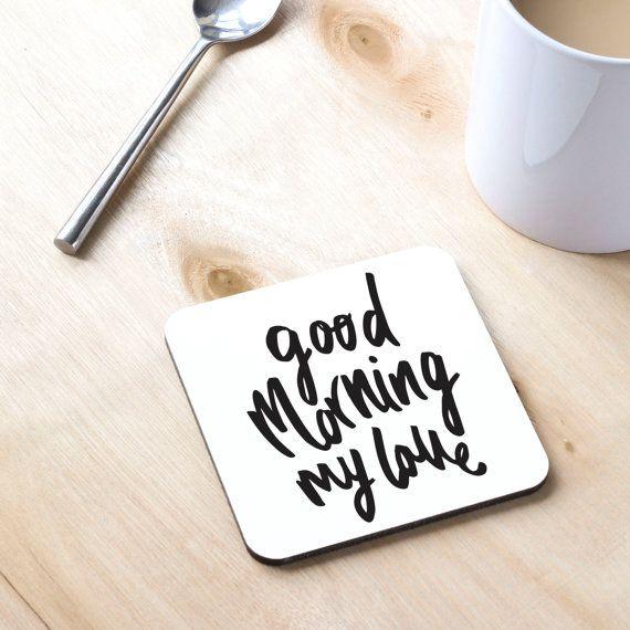 Good Morning Mi Amor Images : Buenos d�as mi amor coaster regalo para ella love you