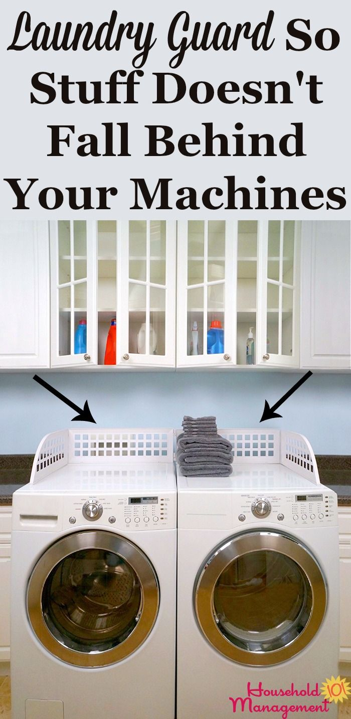 Does Stuff Keep Falling Off The Top Of Your Washer Or Dryer And Falling Behind These Appliances This Laundry Guard K Laundry Laundry Room House Cleaning Tips