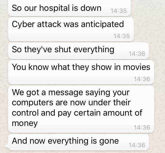 NHS hospitals across England hit by large-scale cyber-attack - http://www.healtherpeople.com/nhs-hospitals-across-england-hit-by-large-scale-cyber-attack.html