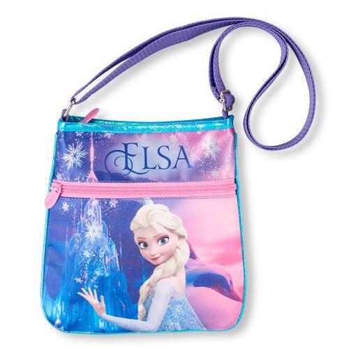 7b1f1939196b Girls Frozen 'Elsa' Crossbody Bag - Blue - The Children's Place ...